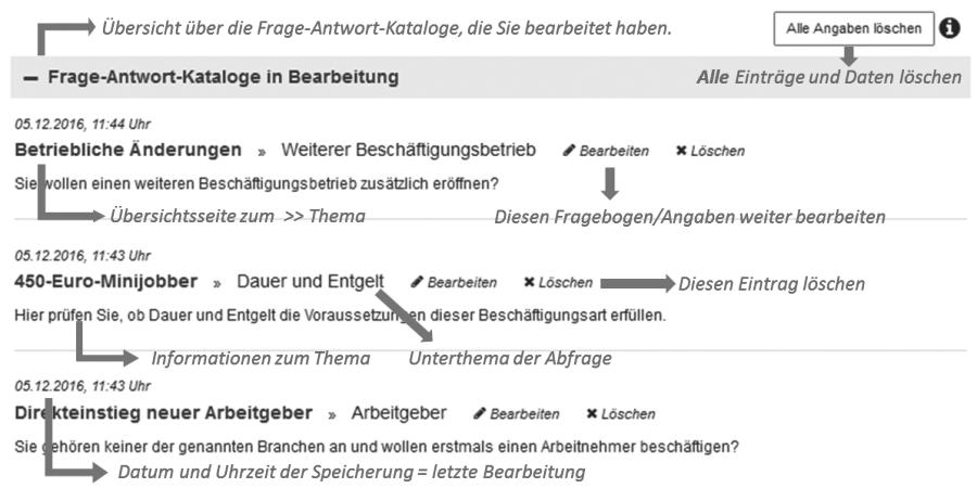Frage-Antwort-Katalog Ueberblick