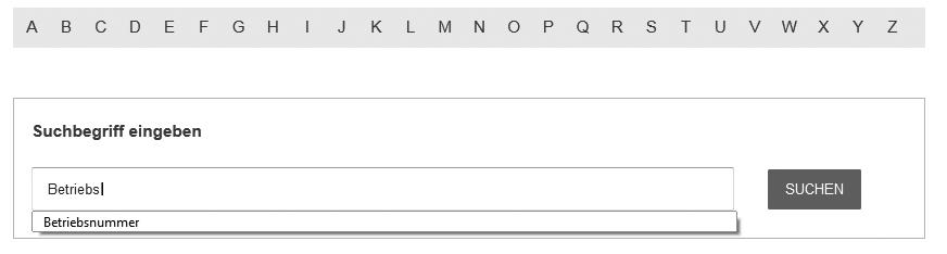Glossar-Suche Beispiel
